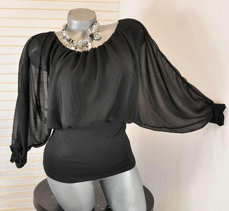 neu traum chiffon bluse corsagen top mit breitem bund 36. Black Bedroom Furniture Sets. Home Design Ideas